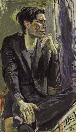 Alice Neel Robert Smithson, 1962 Oil on Canvas 40 x 24 1/4 inches / 101.6 x 61.6 cm