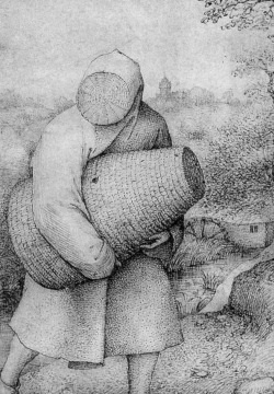 funeral-wreaths:  Pieter Bruegel the Elder, The Beekeepers and the Birdnester (detail), c. 1568