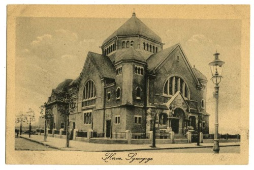 Synagogue, Herne, Germany, undated  For more images, visit the William A. Rosenthall Postcards and Prints & Photographs collections in the Lowcountry Digital Library. Click here for more information on Rosenthall. A Synagogue A Day is also on Twitter.