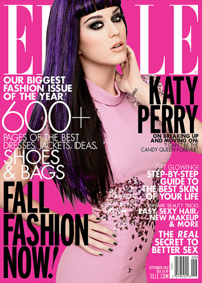 Katy covers the September issue of ELLE magazine