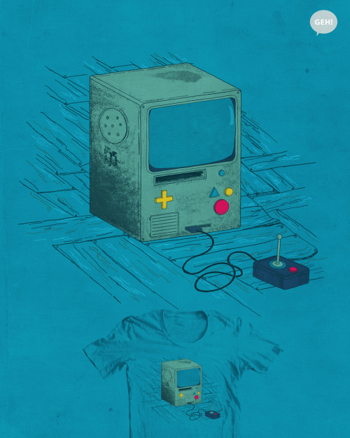 Old Console Would you guys like to see this design as a shirt? Leave your score and comment HERE!  Design by Elly Medeiros deviantART || society6