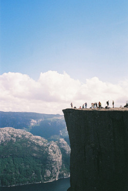 blindsideddd:  Lysefjord Pulpit Rock by misspiano on Flickr.
