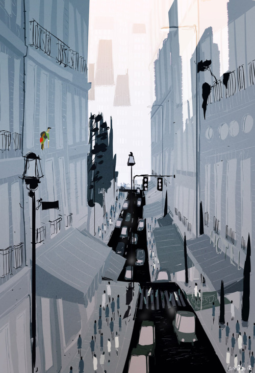pascalcampion:  Morning in the city