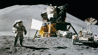 "jadelyn:  poptech:  All the American Flags On the Moon Are Now White  NASA has finally answered a long-standing question: all but one of the six American flags on the Moon are still standing up. Everyone is now proudly talking about it. The only problem is that they aren't American flags anymore. They are all white. So America f*ck yeah, right? Not quite. While the $5.50 nylon flags are still waving on the windless orb, they are not flags of the United States of America anymore. All Moon and material experts have no doubt about it: the flags are now completely white. If you leave a flag on Earth for 43 years, it would be almost completely faded. On the Moon, with no atmospheric protection whatsoever, that process happens a lot faster. The stars and stripes disappeared from our Moon flags quite some time ago.   There's probably something poetic to be said here about failed nationalism, but I'll just go with ""The moon is not having any of your colonial-nationalist shit."""
