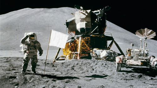 she-dreamt-she-was-a-bulldozer:  poptech:  All the American Flags On the Moon Are Now White  NASA has finally answered a long-standing question: all but one of the six American flags on the Moon are still standing up. Everyone is now proudly talking about it. The only problem is that they aren't American flags anymore. They are all white. So America f*ck yeah, right? Not quite. While the $5.50 nylon flags are still waving on the windless orb, they are not flags of the United States of America anymore. All Moon and material experts have no doubt about it: the flags are now completely white. If you leave a flag on Earth for 43 years, it would be almost completely faded. On the Moon, with no atmospheric protection whatsoever, that process happens a lot faster. The stars and stripes disappeared from our Moon flags quite some time ago.   Now atleast the U.S. can drive up public support for a return mission by saying that we need to leave more flags on the moon or the PRC will claim it's theirs.