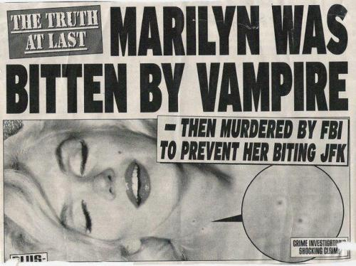 Marilyn was bitten by a vampire.