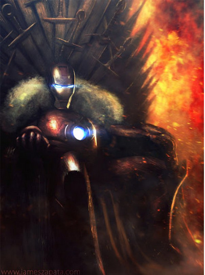 collegehumor:  Iron Man on the Iron Throne Finally, a Stark on the Iron Throne.