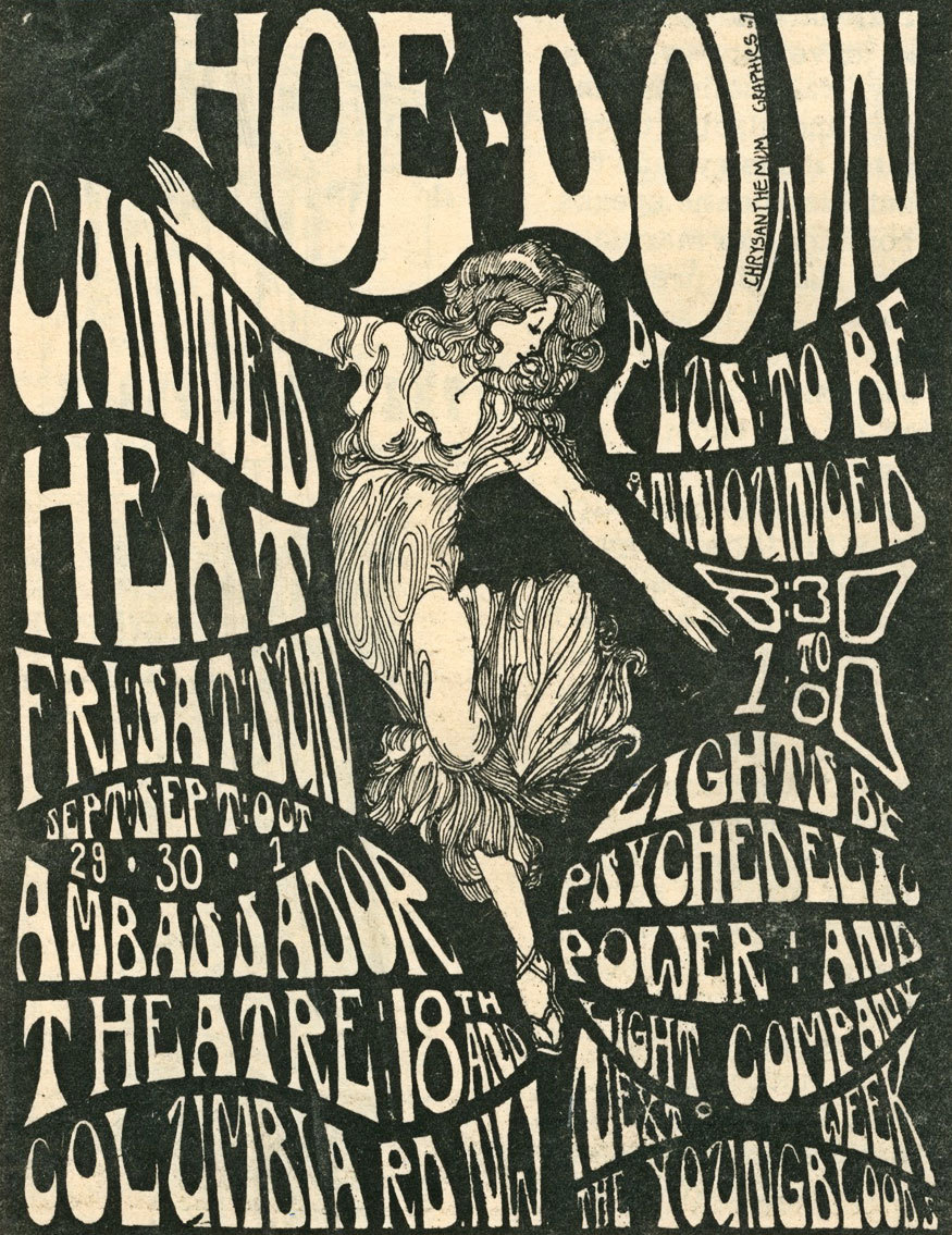 Canned Heat at the Ambassador Theatre in Washington D.C., 1967