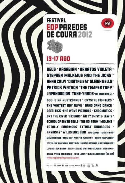 Line-Up for Paredes de Coura Festival, Portugal 2012