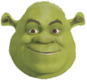 If you leftclick this hsrek and drag it around its ghost shrek