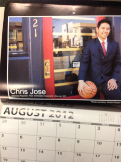 It's Chris Jose month!  Get your AAJA Men of Broadcast calendar autographed! If you're at UNITY12, look for George Kiriyama, Randall Yip, Stanton Tang, Howard Chen, Archith Seshadri, Shawn Chitnis, Brian Tong, Lloyd LaCuesta, Owen Lei, Chris Nguyen and Toan Lam. Calendars now only $5!