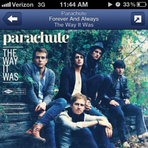 This song is so damn sad. So good though. #Parachute #pandoraradio #ForeverandAlways (Taken with Instagram)