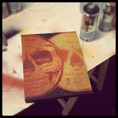 Mini canvas, just made while I'm waiting for paint to dry on another piece… (Taken with Instagram)