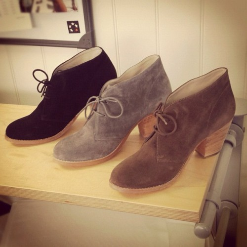 boden:  Help staff member @cocos_snaps choose which Suede Boots to buy! (Taken with Instagram at Boden House)