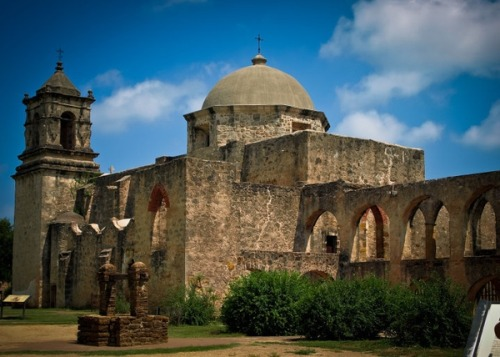 Mission San Jose in San Antonio, TX - visited here years ago and it was much more interesting than the Alamo. ;)