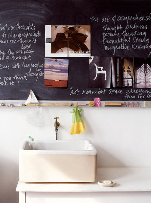 myidealhome:  another chalkcoard inspiration (via desire to inspire  Russell Smith)