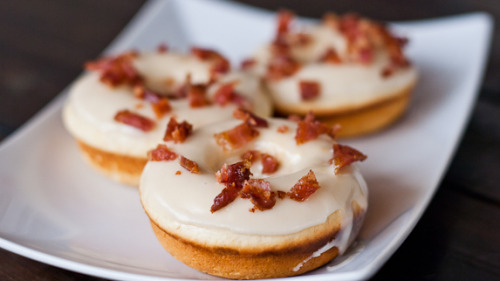 maple bacon donuts (aka the elvis) click here for recipe