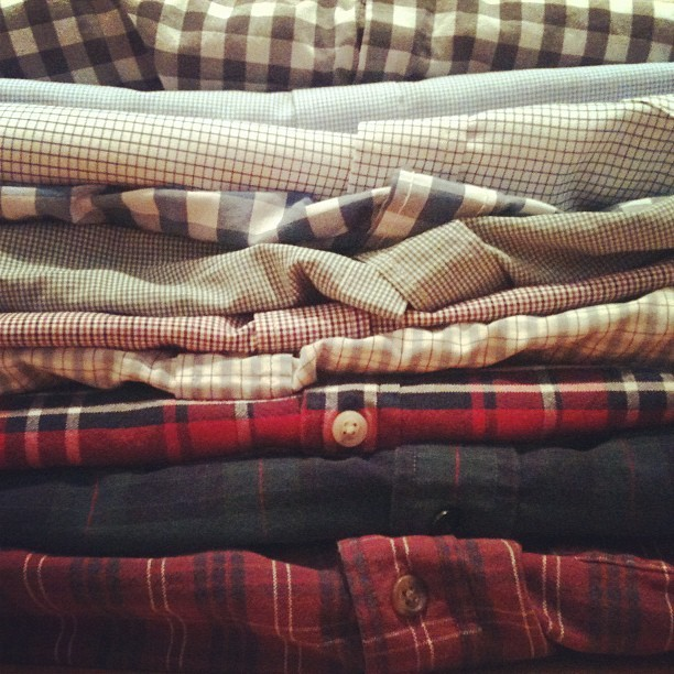 Was packing for UVA and realised I have a slight obsession with gingham/check/plaid shirts (Taken with Instagram)