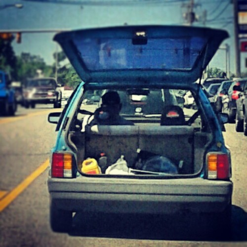 White trash moonroof. (Taken with Instagram)