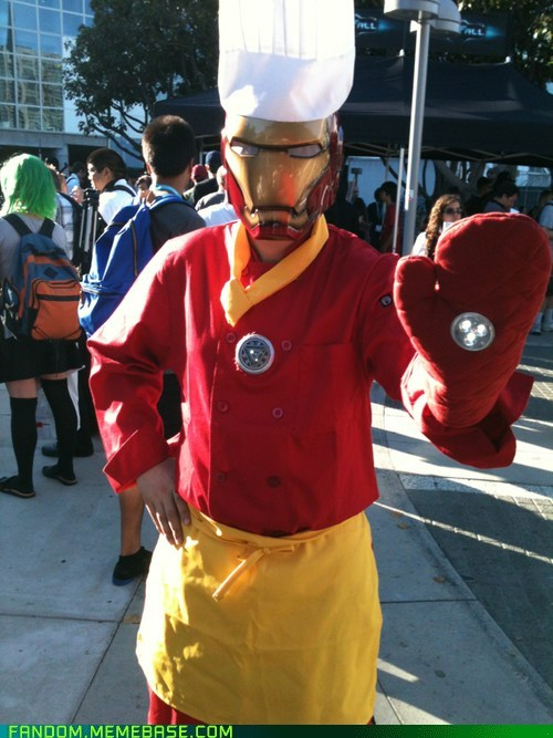 animegeeksplayland:  Iron Chef, Iron Man, #comic, #cosplay