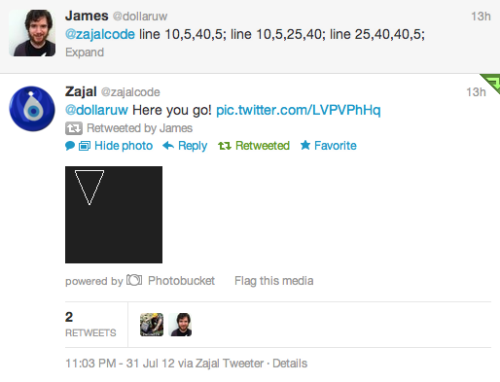ramseynasser:  The Zajal Tweetbot, hard at work!  This is really rad (also hey, that's me)