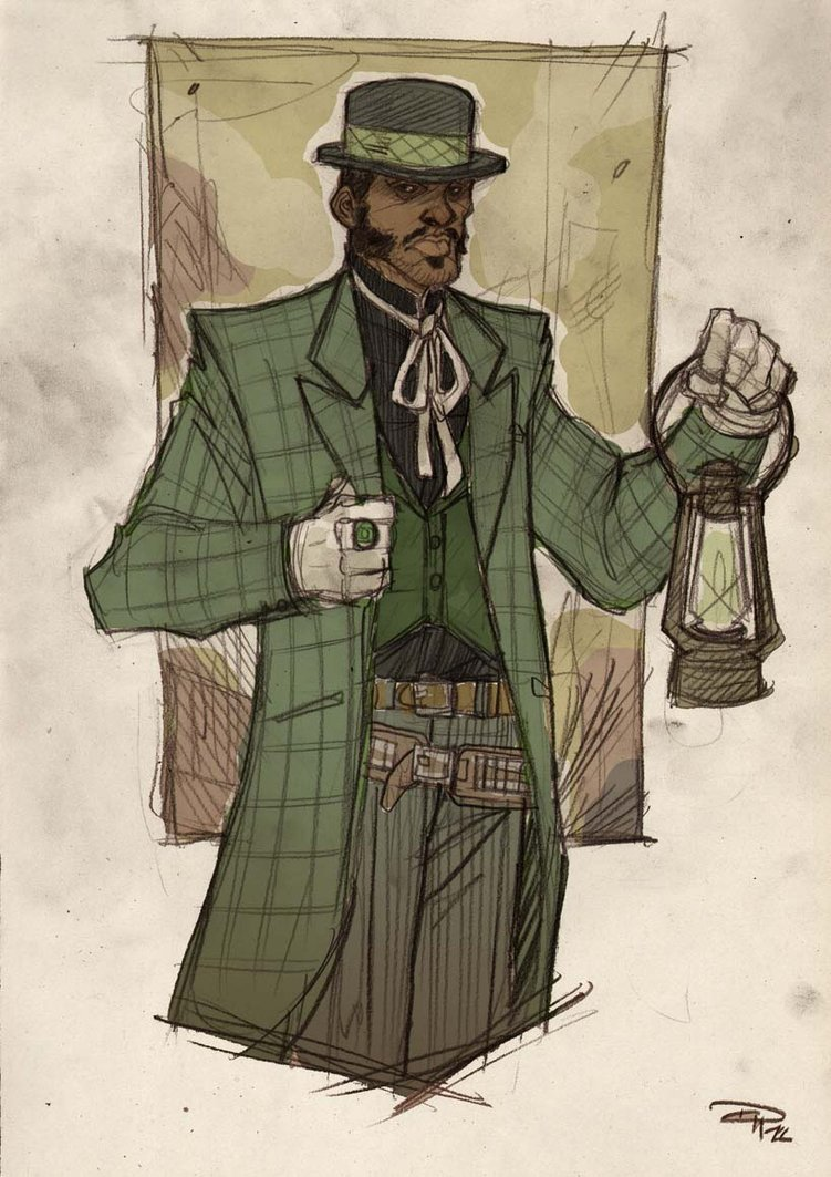 Wild West Green Lantern - more superheroes need sexy hats.