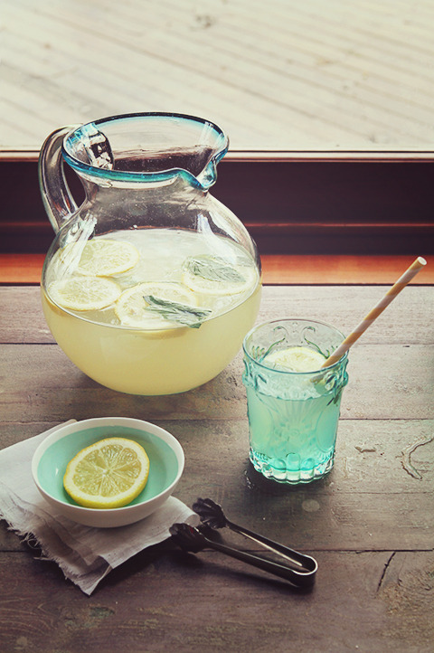 gastrogirl:  lemonade with orange blossom water.