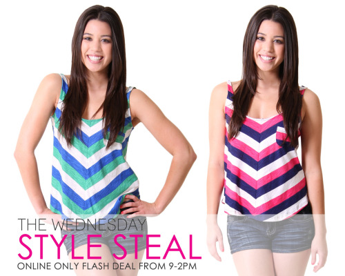 The Wednesday Style Steal This stripe tank is now $7! But hurry, this online only flash deal is available from 9am-2pm so get it before it's gone! Shop this top here >