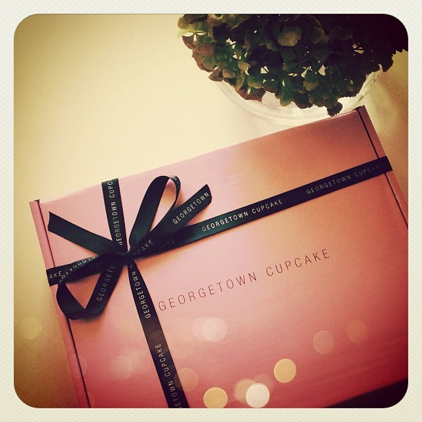 Early morning delivery of @GTownCupcake …thanks @crocs (Taken with Instagram)