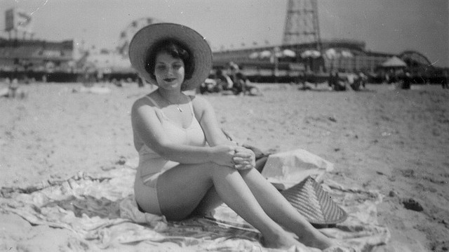 Aunt Rose @ Coney Island 1952 by Whiskeygonebad on Flickr.