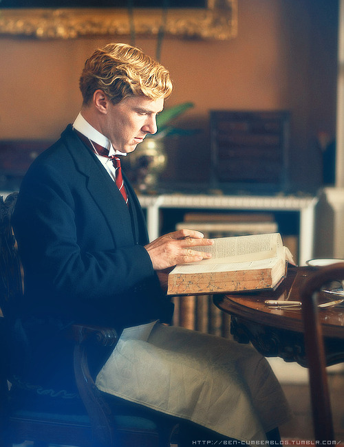 momentofsurrender4:  Benedict and a big old book, what more could you ask for?!  ^ THIS!