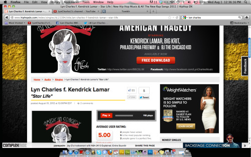 Damn I have ads running and hiphopdx is posting my music. Thats love!!! This is the largest hiphop blog people!  Woah!  Charles