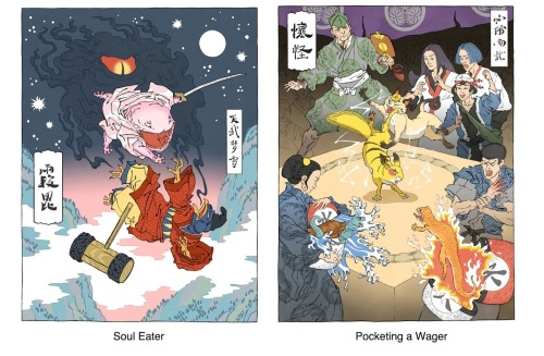 drawnblog:  I love this! Jed Henry combines two of his loves: traditional Japanese print art and classic Nintendo games. You can see more of them on his blog and tumblr.