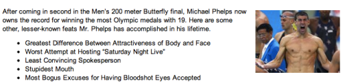 Other Records Set by Michael Phelps [Click to continue reading]