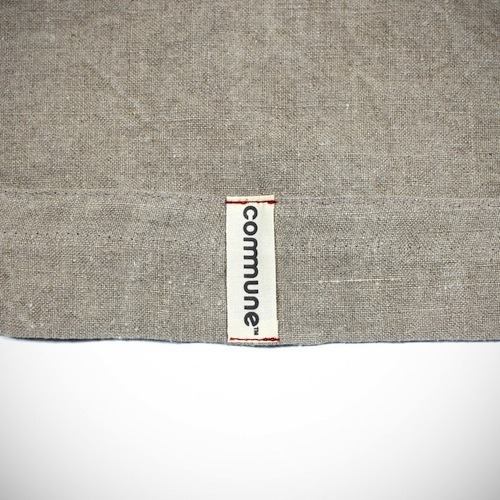 Our friends at Commune made this washed painter's linen throw for us with metallic stitching — distressed just a bit, it wears its weather with a humble grace. In rooms at Ace Hotel & Swim Club, it hangs on slatted walls next to the walking sticks and robes and letters from home. The original batch had frayed edges — these new iterations require some rough love to reach that point. If you like a more perfect finishing, then no assembly is required.  Pick one up on our shop so you may unfurl o'er your own inner sanctum or lay down on the lea where you cross-leggedly concur with the breeze.