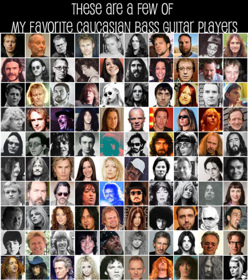 "This is hilarious: ""These Are A Few Of My Favorite Caucasian Bass Guitar Players"""