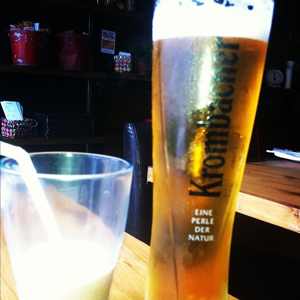 Lunch with my girl! Guess which drink is mine? ;) #beer  (Taken with Instagram)