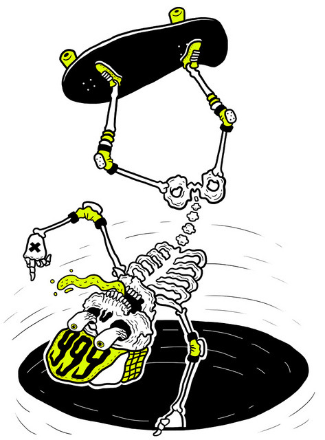Skateboarding Skeleton. on Flickr.