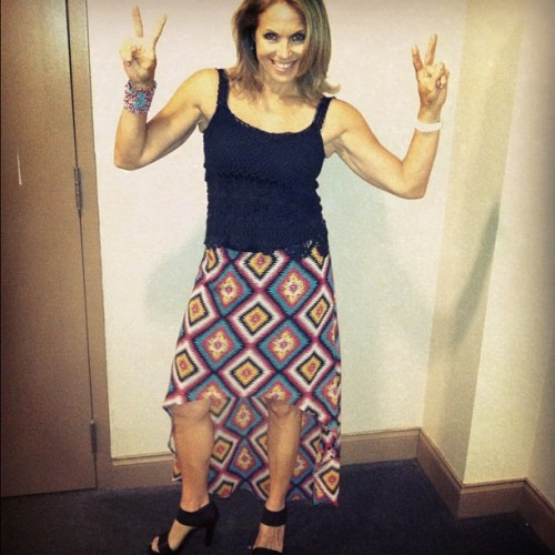 Peace! Getting ready to be a Reeferette last night at the Jimmy Buffet concert!!!