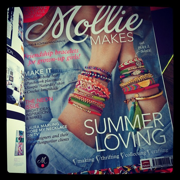 Our #molliemakes magazine came in! Excited. (Taken with Instagram)