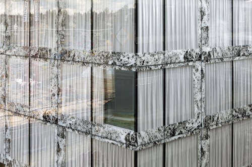 subtilitas:  Wiel Arets - Window detail at the Allianz headquarters in Wallisellen (click for big), currently under construction.