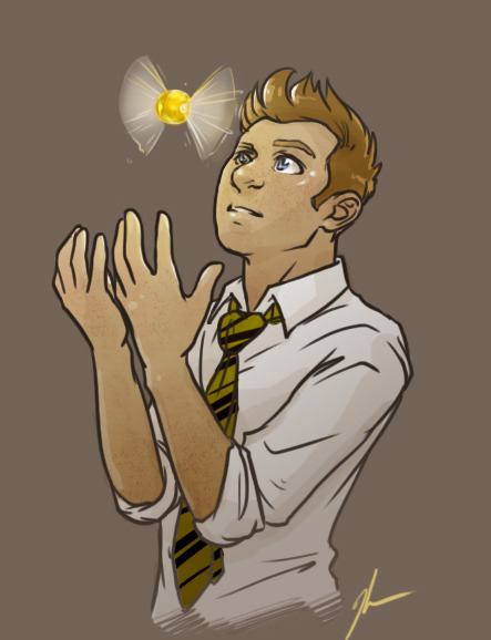 kendrawcandraw:   Hogwartvengers: Clint as the Hufflepuff Seeker  Ahhhhhhh I couldn't not hop on this amazing bandwagon that Michelle has been doing. Seriously just dskjfbaksdfhk I love AUs so much guys help