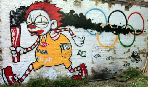 Olympics Street Art by Mau Mau, London, 2012.