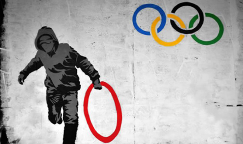 Olympics Street Art by Criminal Chalkist, London, 2012.