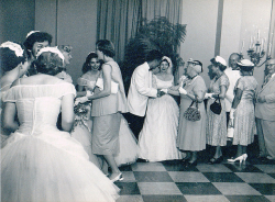 Found wedding photo - 1950s or 60s by arts enthusiast on Flickr.