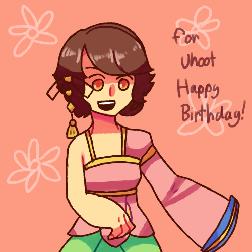 Drew Spring Crocus for Uhoot's birthday!