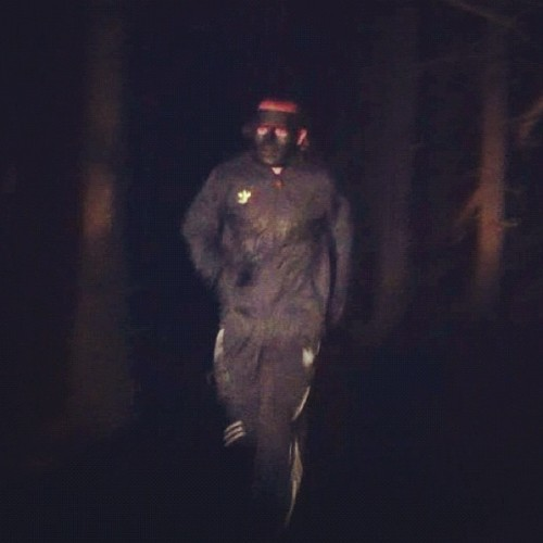 Midnight jogging through the woods @tarantulax #deepforest #adidastracksuit (Taken with Instagram)