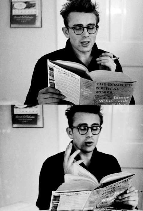 theonewhokilledbill:  James Dean reading James Whitcomb Riley
