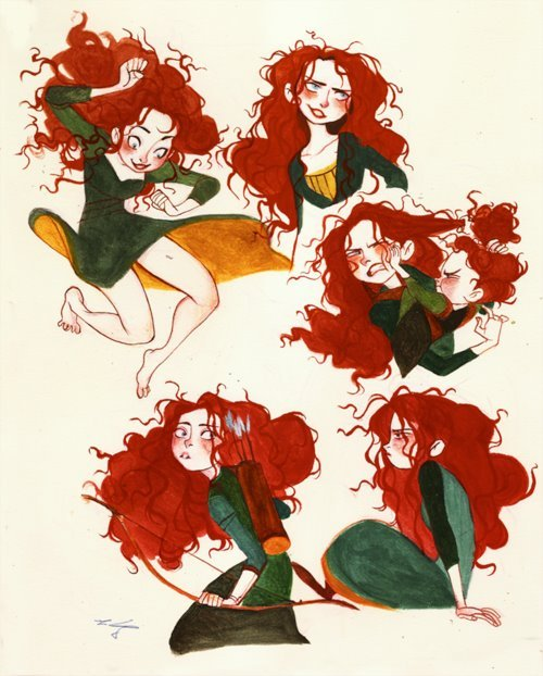 Merida and her hair!