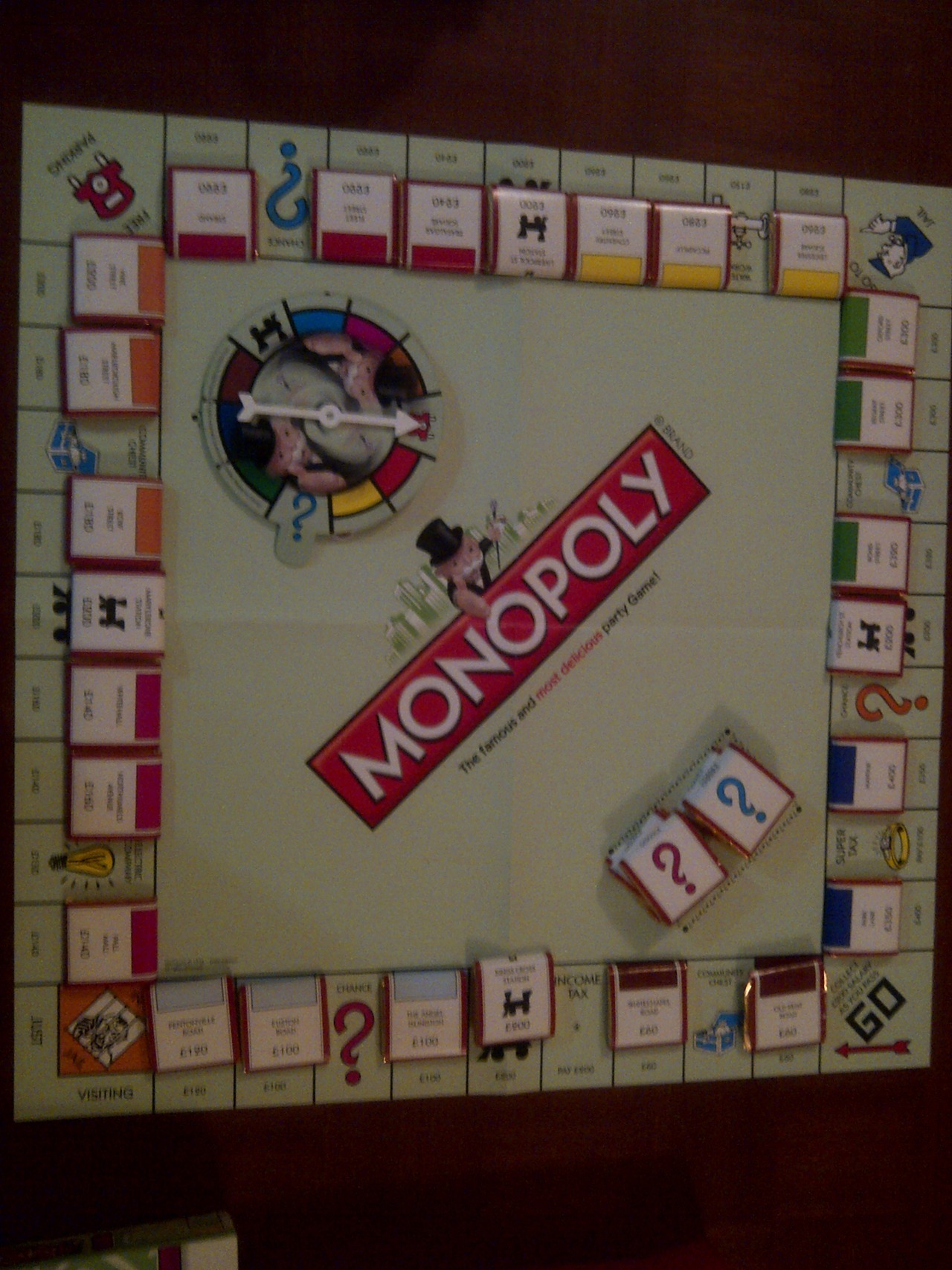 Game night with the girls. Monopoly chocolate edition :D